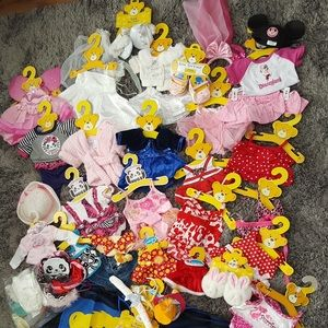 Lot of Build a Bear Clothes and accessories.
